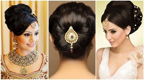 indian bun hairstyles  medium hair traditional