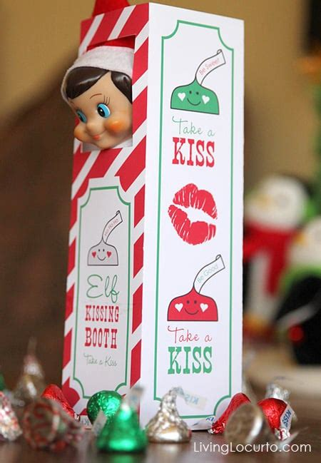 elf kissing booth elf   shelf ideas popsugar moms
