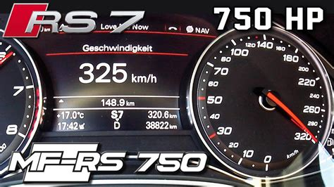 Audi Rs7 750 Hp 0-325 Km/h Acceleration & Top Speed By