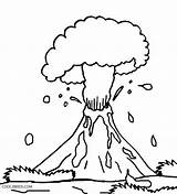 Volcano Coloring Pages Preschool Eruption Explosion Drawing Volcanic Printable Hawaiian Cool2bkids Hawaii Getdrawings Popular sketch template
