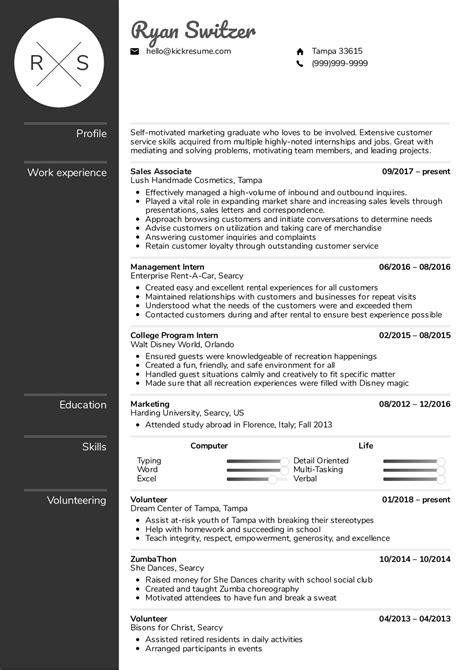 resume examples  real people sales associate resume template kickresume