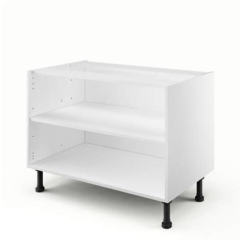 caisson sous evier cuisine caisson de cuisine sous évier bs90 delinia blanc l 90 x h