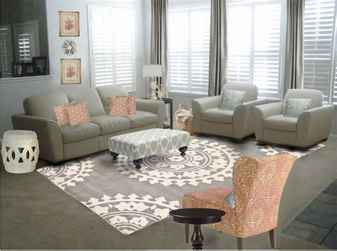 Elegant Gray Living Room Decorating Ideas And With Ivory Sofas As Furniture Living Sets Added