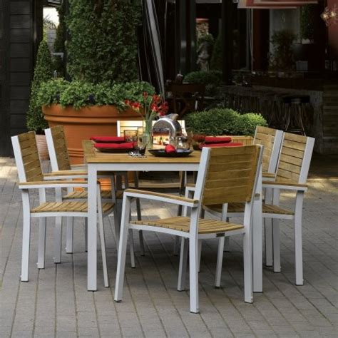 oxford garden travira teak patio dining set seats 6