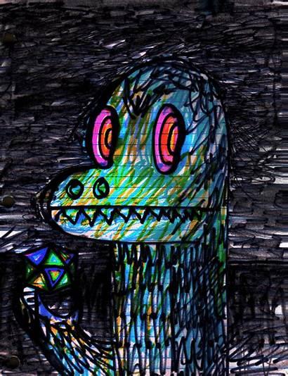 Acid Psychedelic Dinosaur Drawings Dinosaurio Odio Dain