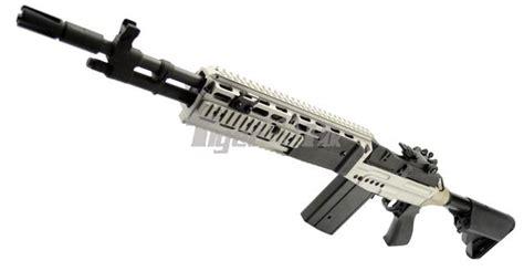 cyma metal m14 ebr aeg extended stock rifle silver