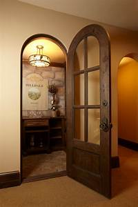 wine cellar doors Wine Cellar Rustic with arched door