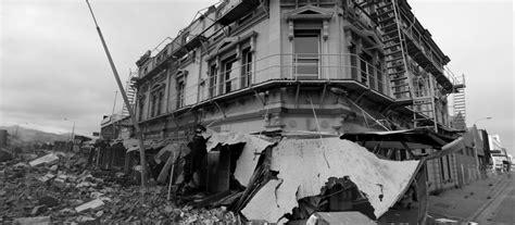 christchurch earthquake panorama bw st earthquake