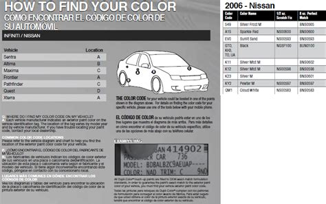 where can i pay touch up paint for in nissan x trail in