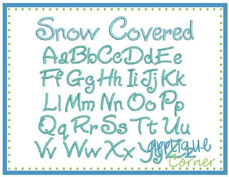 Snow Covered Letters by 61 Best Fonts Images On Embroidery Fonts