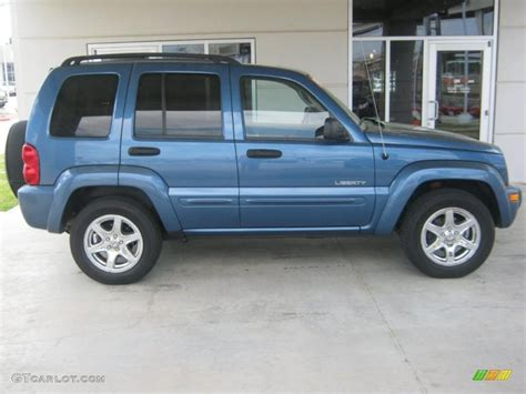 jeep liberty limited 2004 atlantic blue pearl 2004 jeep liberty limited 4x4 exterior