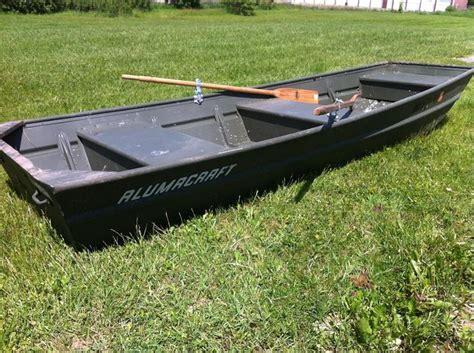 Alumacraft 14 Foot Flat Bottom Boat With Oars Flat