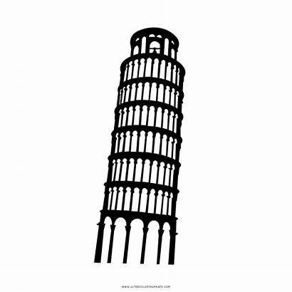 Pisa Tower Coloring Pages Transparent Pluspng