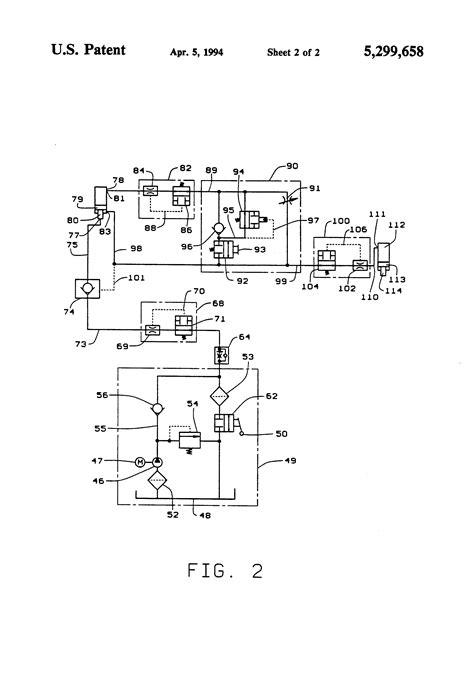 patent us5299658 automatic hydraulic lift circuit patents