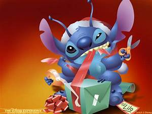 Lilo Stitch Images Stitch Wrapping Present HD Fond D