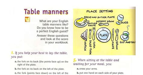 table manners 1 of 2 etiqueta glamour y protocolo by dd table manners