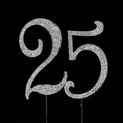 graduation party favors number 25 rhinestone cake topper wedding cake toppers