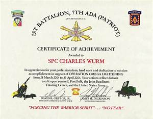 army certificate of achievement example website resume With military certificates templates