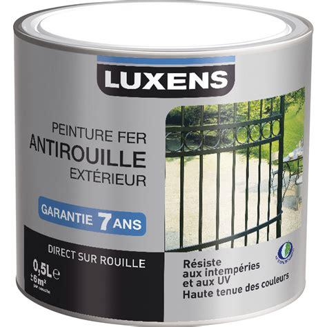 peinture fer ext 233 rieur luxens noir 0 25 l leroy merlin