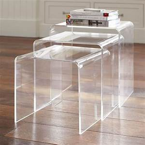 acrylic nesting tables pbteen With acrylic nesting coffee table