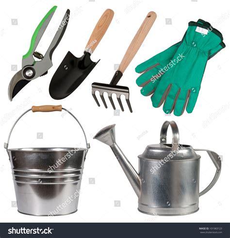 Gardening Tools Isolated On White Background Stock Photo 101983123   Shutterstock