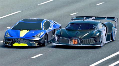 Bugatti black devil vgt vs devel sixteen drag race 20 km. Bugatti Black Devil VGT vs Lamborghini Scorpion Concept - Drag Race 20 KM - YouTube