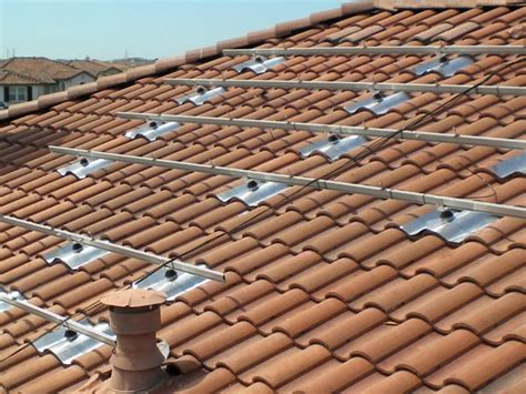 installing solar panels on a s tile roof