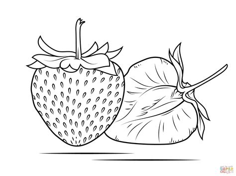 yummy fruit strawberry  strawberry coloring pages