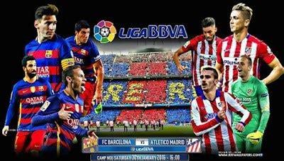 Alineación y previa Barcelona-Atlético Madrid. Jornada 22