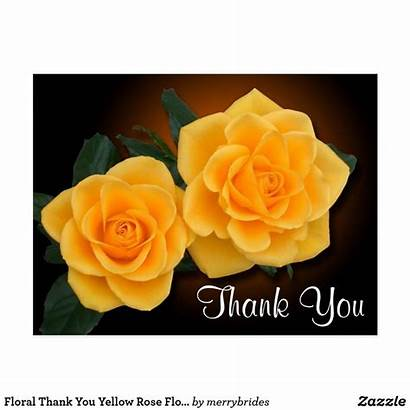 Yellow Thank Rose Flowers Zazzle Floral Roses