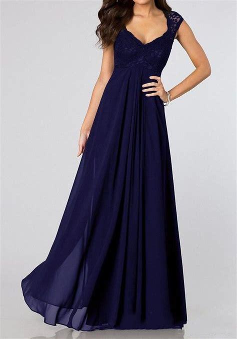 abendkleid lang blau mit spitze cocktailkleid