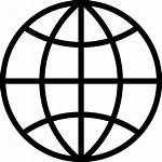 Icon Earth Internet Planet Globe Silhouette Ball