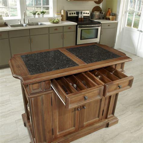 home styles americana kitchen island  granite top