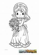 Precious Moments Coloring Bride Brides Pages Sheets Colouring Flower Drawing Groom Para Colorear Dibujos Adult Momentos Printable Preciosos Pintar Google sketch template