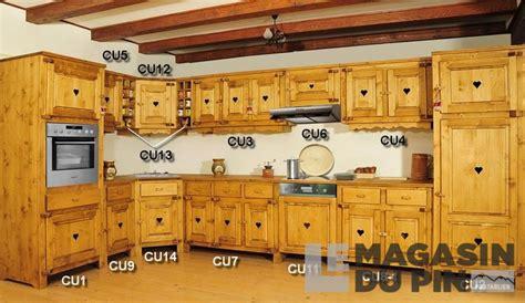 meuble cuisine pin massif meuble haut 3 portes cuisine chamonix en pin massif le