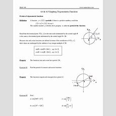 Graphing Trigonometric Functions Worksheet For 9th  12th Grade  Lesson Planet