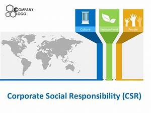 corporate social responsibility csr powerpoint templates With corporate social responsibility policy template