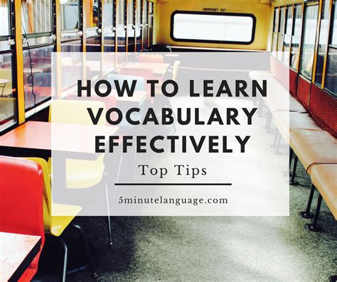 How To Learn Vocabulary Effectively Top Tips  5minute Language