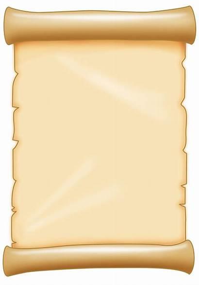 Scroll Clipart Plain Pirate Transparent старая Label