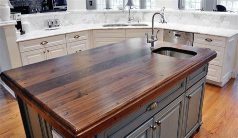 wood island tops kitchens distressed black walnut heritage wood by artisan