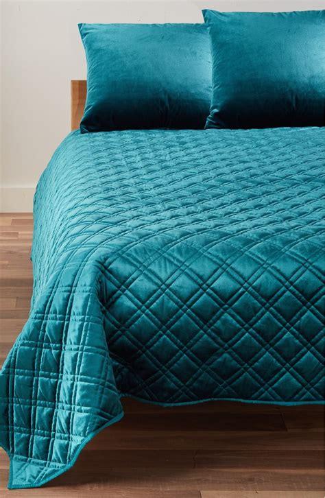 teal velvet quilt  turquoise