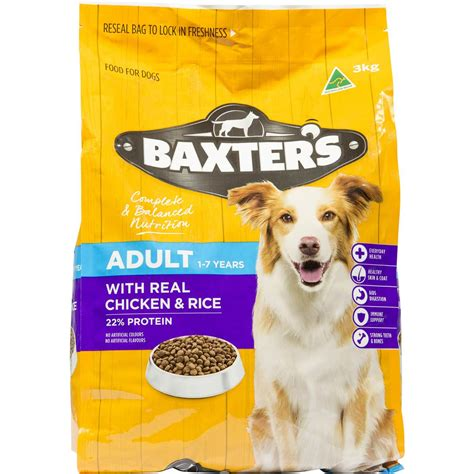 baxters dog food chicken rice kg woolworths
