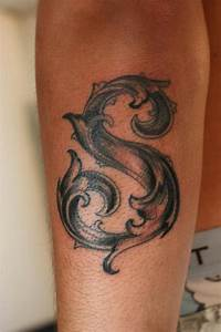 Image Gallery letter s tattoo ideas