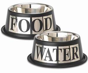 Dog Food and Water Bowl Set Stainless Steel Silver ...