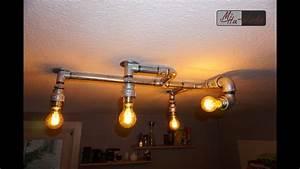 Deckenlampe Selber Bauen Anleitung : diy design deckenlampe aus rohren industrial design lighting youtube ~ Watch28wear.com Haus und Dekorationen