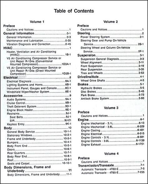 car repair manuals online pdf 1998 pontiac grand prix free book repair manuals 1998 pontiac grand prix repair shop manual original 4 volume set early edition