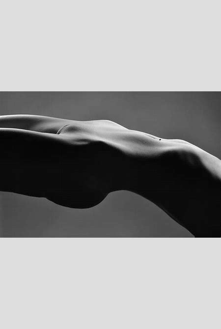 2465 Suspended Pelvis Black And White Nude Photograph by Chris Maher