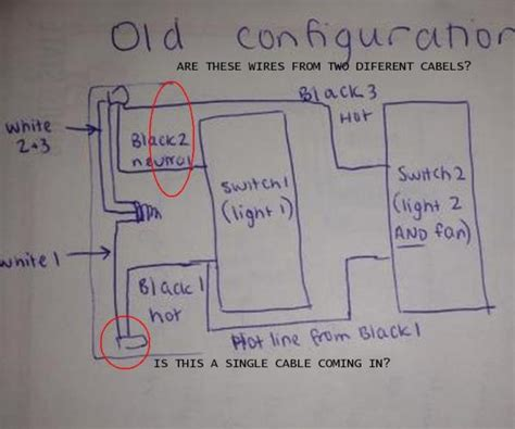Ac Wiring Black White by Wiring A New Light Fan Combo Switch With 3 Black And 3