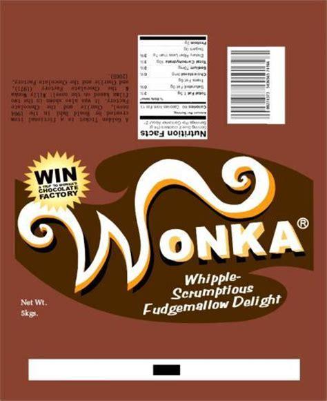 willy wonka bar wrapper template c 243 mo hacer tabletas de chocolate wonka con el ticket dorado dentro