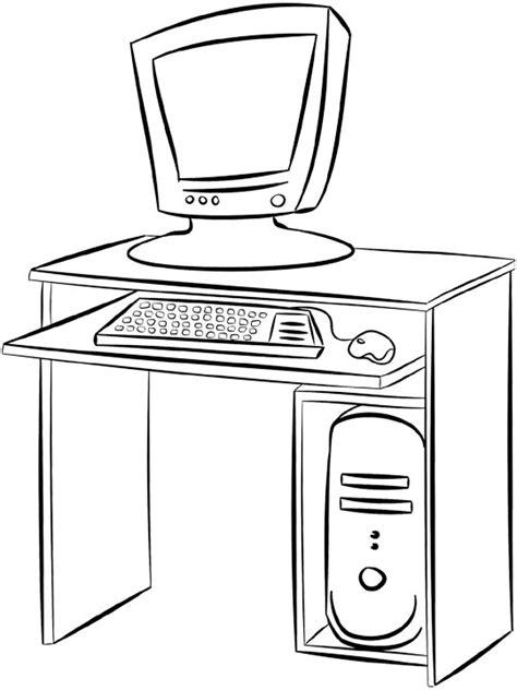 coloriage bureau dessins de meubles à colorier